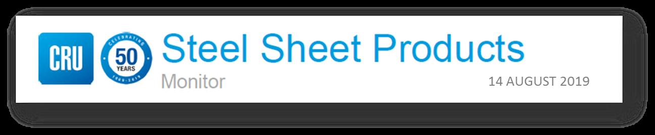 Thank you page - Steel Sheet Monitor | CRU